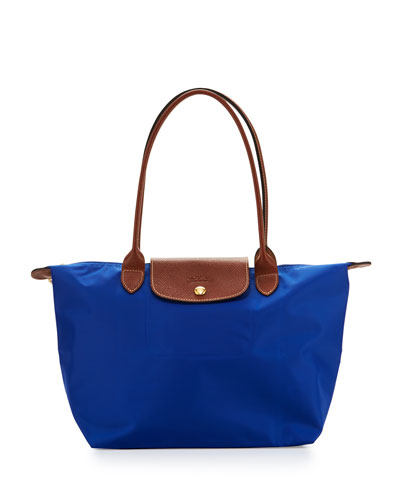 Le Pliage Medium Shoulder Tote Bag, Blue
