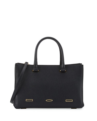 Pandora Demi Leather Tote Bag, Black