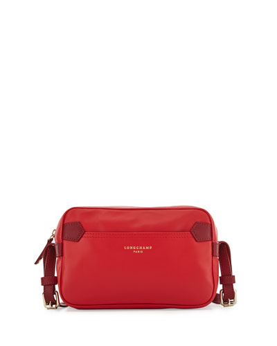Longchamp 2.0 Leather Crossbody Bag, Poppy Red