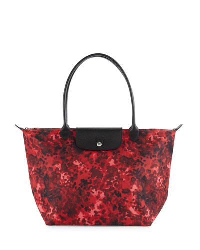 Le Pliage Néo Fantaisie Large Printed Tote Bag, Ruby