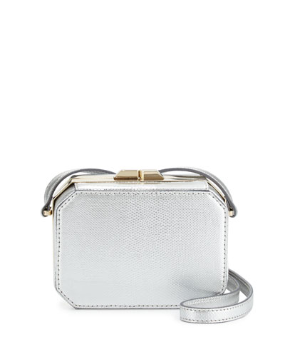 Jazz Octagonal Crossbody Bag, Silver