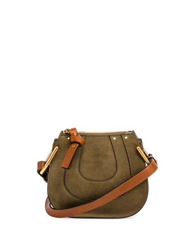 Hayley Nano Suede Shoulder Bag, Green
