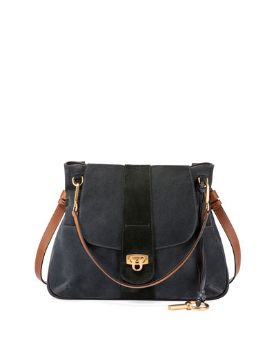 Lexa Medium Shoulder Bag, Blue