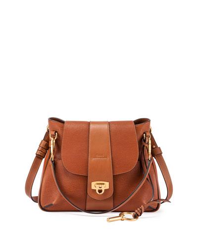 Lexa Medium Shoulder Bag, Caramel
