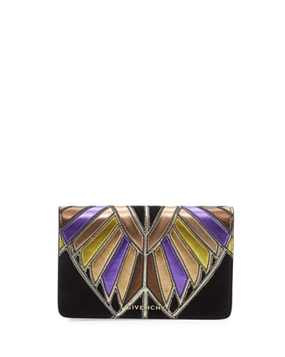 Pandora Wings Chain Wallet, Black/Multi