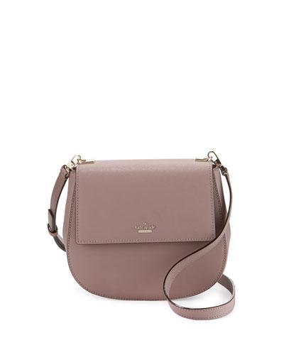 cameron street byrdie leather crossbody bag, porcini