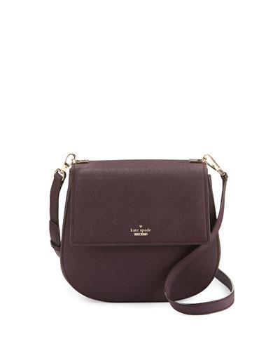 cameron street byrdie leather crossbody bag, mahogany
