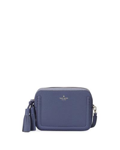 orchard street arla crossbody bag, oyster blue