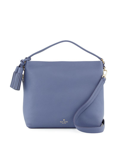 orchard street natalya small hobo bag, oyster blue