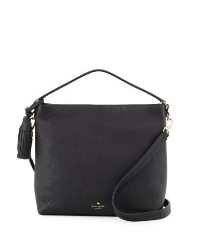 orchard street natalya small hobo bag, black