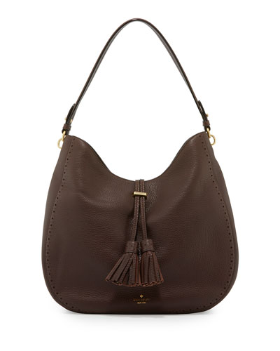 james street mason leather hobo bag, barrel brown