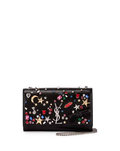 Monogram Medium Mix & Match Chain Shoulder Bag, Black/Multi
