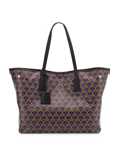 Marlborough Iphis-Print Tote Bag, Purple/Multi