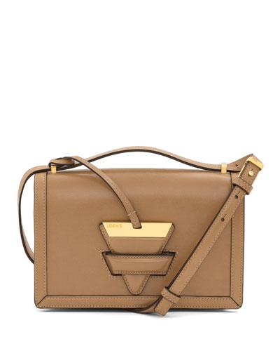 Barcelona Leather Shoulder Bag, Tan