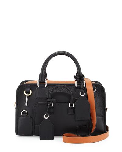 Amazona 28 Multiplication Satchel Bag, Black/Tan