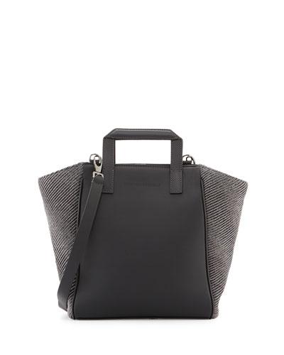 Small Diagonal-Monili Tote Bag, Gray