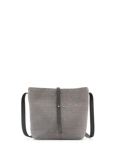 Medium Monili Bucket Bag, Ruthenium
