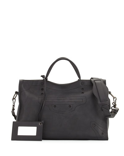 Blackout City AJ Shoulder Bag, Black