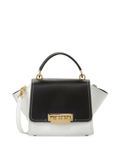 Eartha Iconic Leather Mini Satchel Bag, Beige