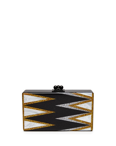Jean Twist Acrylic Clutch Bag