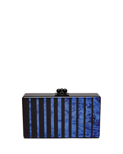 Flavia Fade Box Clutch Bag, Black/Multi