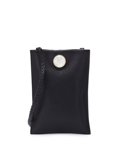 Medicine Small Leather Pouch Bag, Black
