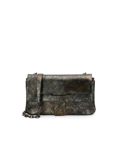 Toledo Small Chain Shoulder Bag, Dark Brass