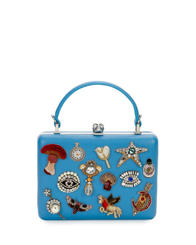 The Box Charm Satchel Bag, Dream Blue