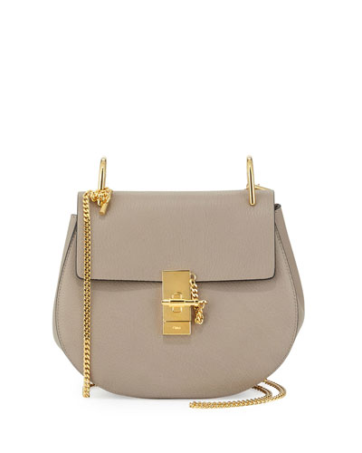 Drew Small Chain Shoulder Bag, Motty Gray