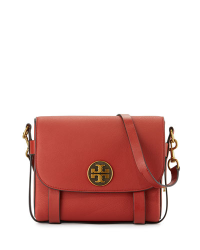 Alastair Leather Messenger Bag, Light Redwood