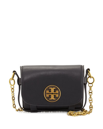 Alastair Small Leather Crossbody Bag, Black
