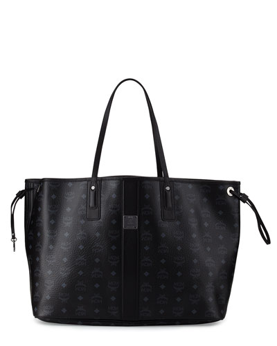 Liz Large Reversible Shopper Tote Bag, Black