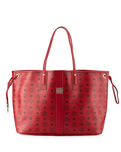 Liz Large Reversible Shopper Tote Bag, Ruby