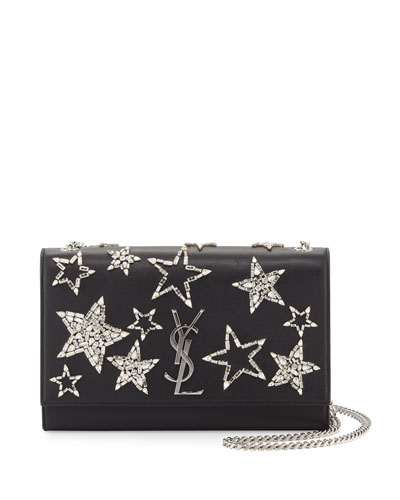 Monogram Medium Star Chain Shoulder Bag, Black