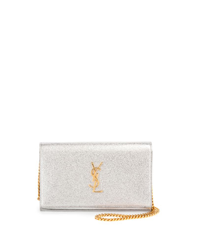 Monogram Medium Wallet-on-Chain Bag, Silver