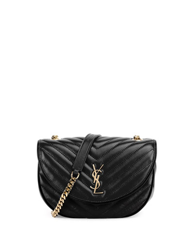 Monogram Medium Bubble Chain Crossbody Bag, Black