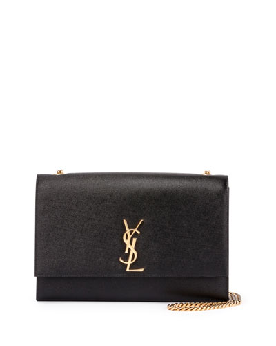 Monogram Kate Large Chain Shoulder Bag, Black