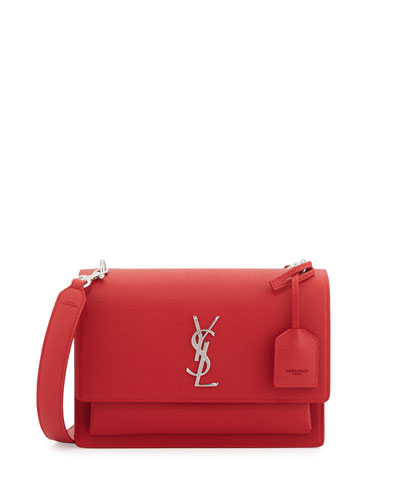 Sunset Medium Crossbody Bag, Red