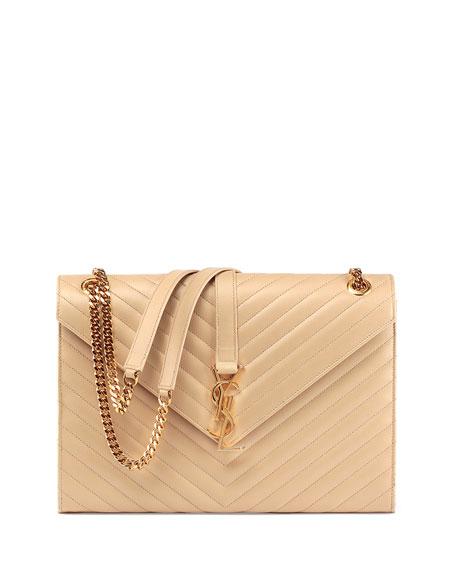 Saint Laurent Monogram YSL Matelasse Shoulder Bag