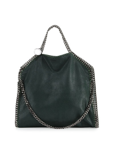 Falabella Fold-Over Tote Bag, Dark Green