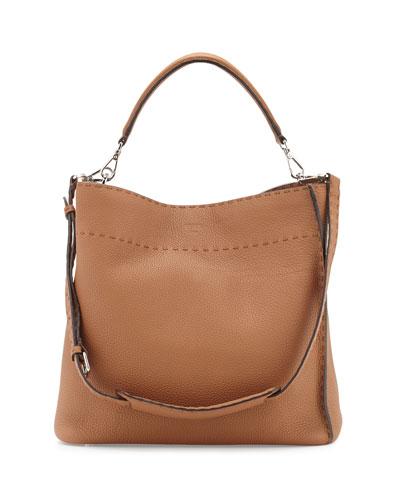 Anna Selleria Large Bucket Hobo Bag, Camel