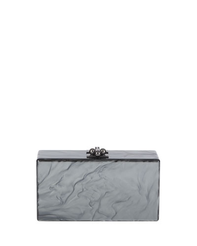 Jean Solid Acrylic Clutch Bag, Sapphire