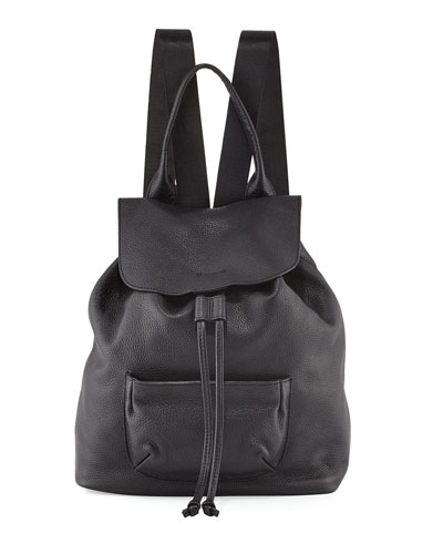 Langley Leather Backpack, Black