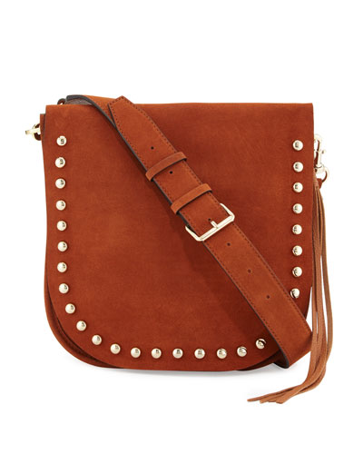 North/South Unlined Messenger Bag, Almond