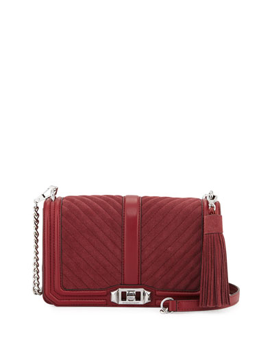 Love Quilted Turn-Lock Crossbody Bag, Tawny Port