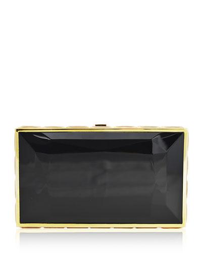 Speccio Faceted Box Clutch Bag, Champagne