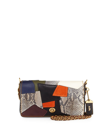 Dinky Small Patchwork Crossbody Bag, Black/Multi