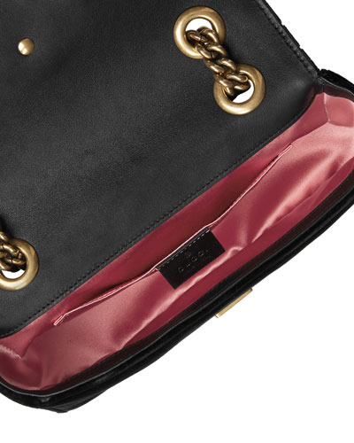Monogram Small Lipstick-print Crossbody Bag, Black