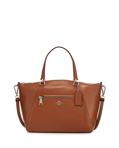 Prairie Leather Satchel Bag, Saddle