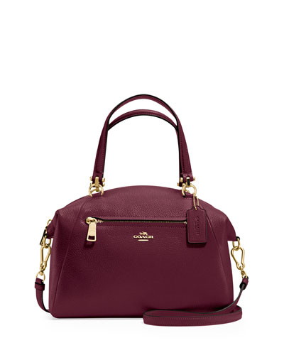 Prairie Leather Satchel Bag, Burgundy